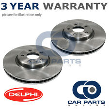 2X REAR DELPHI COATED BRAKE DISCS FOR FORD FOCUS GALAXY KUGA MONDEO S-MAX 06-15