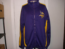 Minnesota Vikings Track Jacket NWT LARGE PURPLE GOLD WHITE
