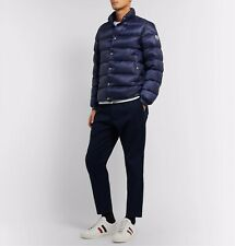 NEW Moncler Men's Piriac Down Puffer Quilted Jacket - Navy Blue - Large / 4