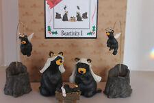 Big Sky Carvers 7 Piece Bearfoots Beartivity 1 Nativity Set Artist Jeff Fleming