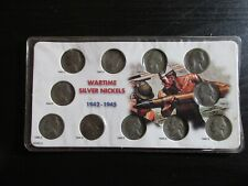 United States Complete Wartime Silver Nickels Set 1942P thru 1945S #7