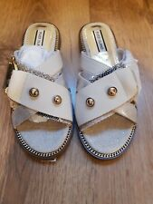 River Island Cream Sandals Sliders Shoes Size UK 3 Brand New