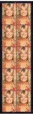 Charlies Angels Strip Of 10 Mint Tv Vignette Stamps, Fawcett