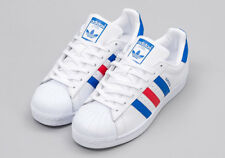 Adidas Superstar 60's 70's Originals Red White and Blue Brand New in Box 11 US