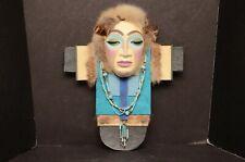 "Native american ESKIMO Small Spirit MASK Signed Northwest coast art 11"" tall"