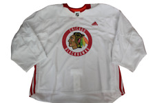 Chicago Blackhawks Adidas Goalie Cut Size 60 Practice Jersey Made In Canada New