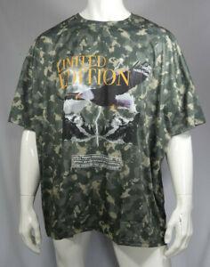 Mens Plus Size Eagle Print Camo Loose Fit T-Shirt Size 3XL 4XL RRP £18 MTJul28-3