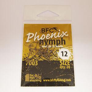 BFC Phoenix 7003 Fly Tying Nymph Fly Hooks / 20pc / Matt Bronze