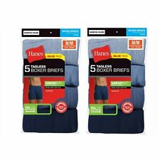 Hanes Men/'s 5-Pack Boxer Briefs ComfortSoft Waistband TAGLESS XLarge 7460Z5 U27