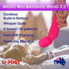 MAGIC Mini Cordless Massage Wand 2.0 Body Personal Massager Vibrator Waterproof