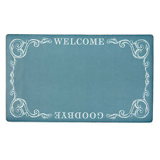 Clayre&Eef Paillasson Bienvenue au revoir tapis de porte shabby vintage 74cm