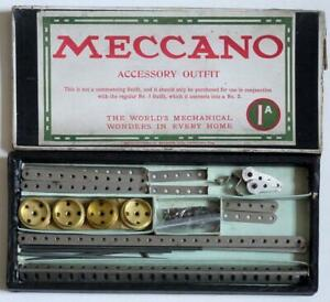 MECCANO (ACCESSORY OUTFIT  1A) NICKEL  PARTS (BOXED)