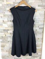 French Connection Ladies Size 10 Black Dress Tea