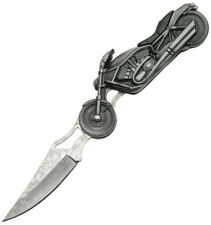 """China Made Motorcycle Knife 4 3/4"""" closed linerlock. 3 1/4"""" stainless blade. Int"""
