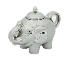 BIA Elephant Shape Blingaphant Porcelain Sugar Pot With Lid Platinum