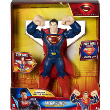 "Large Superman Action Toy Figure Punch DC Comics Kids Gift 10"" Justice League"