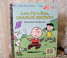 LITTLE GOLDEN BOOK LET'S FLY A KITE CHARLIE BROWN 1987