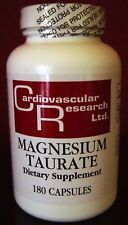 Magnesium Taurate 125mg 180caps by Cardio Research Ltd.