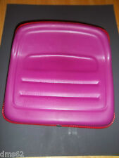 "FORESTER TRACTOR SEAT FITS MANY BRANDS  4 BOLT  8 1/4"" X 3""  PURPLE SEAT"