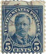 (USA73) 1922 5c blue T Roosevelt ow608