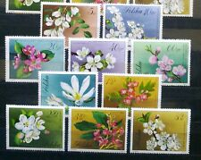 POLAND STAMPS MNH Fi1985-94 Sc1860-69 Mi2132-41 - Flowers of trees, 1971, **