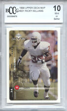 RICKY WILLIAMS The Apprentice 1999 Upper Deck MVP rookie BGS BCCG 10 graded MINT