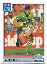 1992 NSW Rugby League REGINA Base Card (144) Bradley CLYDE Canberra Raiders