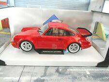 Porsche 911 964 Turbo Coupe 3.6 1990 red rojo nuevo 421185570 solido metal 1:18