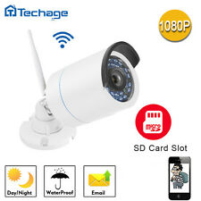 Techage SD Card Slot 1080P WIFI Wireless HD IP Camera Waterproof In/Outdoor CCTV