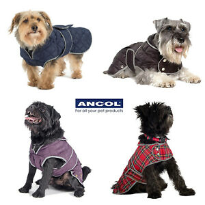 Ancol Dog Coat Harness Compatible Muddy Paws Grey Fleece Quilt Red Tartan Puppy