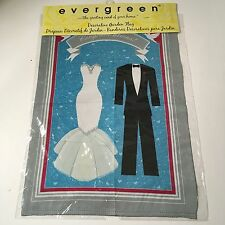 "NEW Evergreen  Bride And Groom Wedding Congratulations Garden Flag 18"" X 12"""