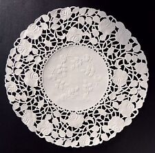 """50 - 10"""" Off White ROSE FLORAL Lace Paper Doilies 