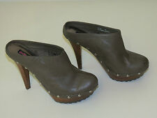 Clogs shoes DOLLHOUSE Women's Platform Spike Heel Black/Taupe size 8.5