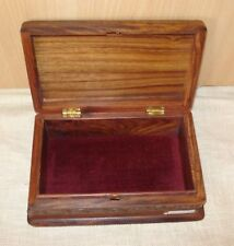 FairTrade Big Beautifully crafted Secretly Locking wooden box Large Father's Day