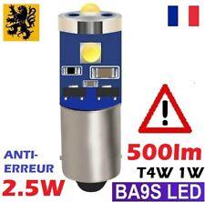 1x T11 T4W LED H5W 500Lm 3 SMD 1W  BLANC PUR 6500K BA9S T2W T3W 270° ANTI ERREUR