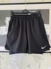 Mens Black DRI-FIT 2-in-1 Activewear/Fitness/Running Shorts From  NIKE - Size M