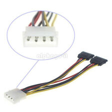 4 Pin IDE Male Molex to Dual SATA Splitter 2 Ports Female Power Adapter Cable TT