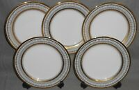 Set (5) Muirfield GOTHIC PATTERN Porcelain SALAD PLATES Made in New York