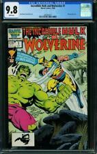 Incredible Hulk and Wolverine #1 CGC 9.8 1986 Re-Presenting 1st App! L5 217 cm