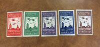 Germany 1913 Darmstadt Air Show 5 Cinderellas Poster Stamp labels w/  biplanes