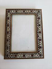Metal & Brown Enamel 4x6 Picture Photo Frame