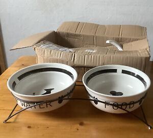 TRIXIE EAT ON FEET CERAMIC Ex Large Dog Bowls 2.6 L Each Brand New Unused