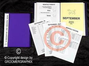 DOG GROOMING ACCOUNTS FILE  stationery by GROOMERGRAPHIX *Best Seller*
