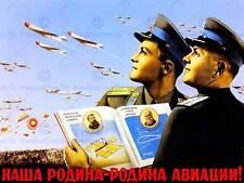La russie soviétique propagande vol avion urss guerre fine art print poster CC4242