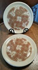 4 Crown Lynn Interlude Stone Ware Dinner Plates 1970's D085