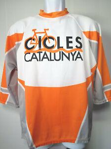 SPAIN SPANISH LONG SLEEVE Sm CYCLING JERSEY Cicles Catalunya Orange LIDER S