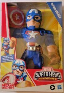 Playskool Mega Mighties Marvel Captain America Super Hero Action 10 Inch Figure