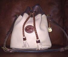 Vintage Medium Teton Drawstring Dooney and Bourke Handbag, Tricolor
