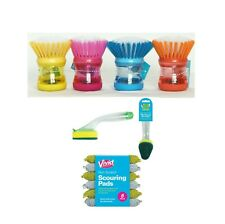 Soap Dispensing Washing Up Scrubber,Brush,Sponge Dishes Cleaning Scouring Pad