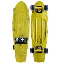 """Penny Skate Marble Complete 27"""" Yellow/Black Clear Wheel Skateboard"""